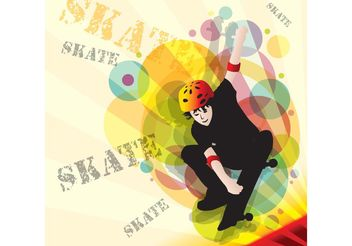 Skater Vector - Free vector #138939