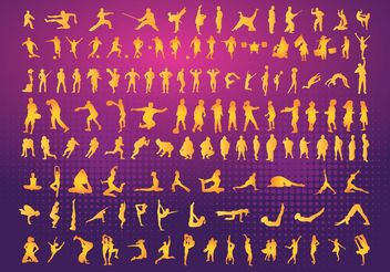Silhouettes Clipart - Free vector #138959