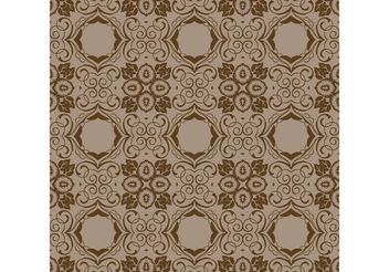 Brown Seamless Wallpaper - vector gratuit #139179