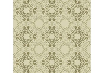 Green Floral Wallpaper - Free vector #139189