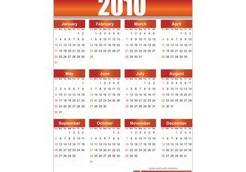 2010 Free Vector Calendar - Free vector #139369