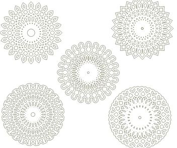 Circular arabesques v1 - Free vector #139439