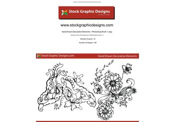 Sketchy Decorative Elements - vector #139519 gratis