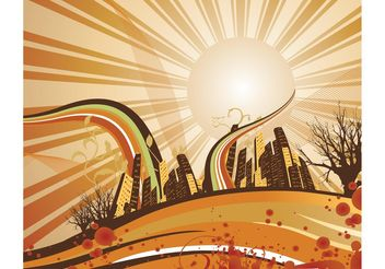 Sunrise - vector gratuit #139559
