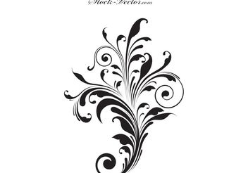 Free vector engraved flower - Free vector #139659