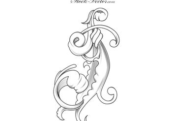 Free vector engraved flower - Free vector #139669