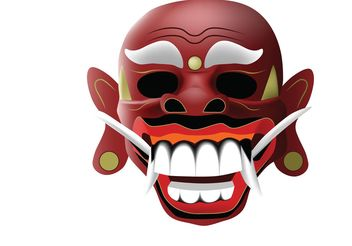 traditional balinese mask - vector #139709 gratis