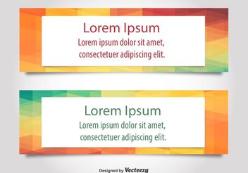 Modern Text Web Banner Vectors - бесплатный vector #139729