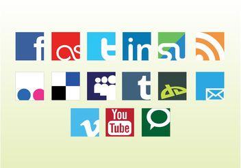 Social Web Vector Logos - Kostenloses vector #139759