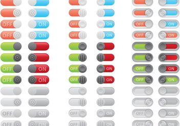 On Off Button Vectors - бесплатный vector #139769