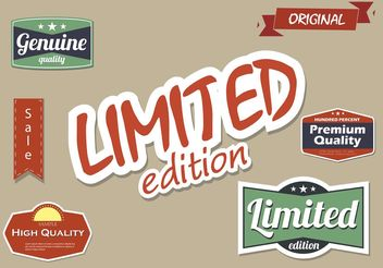 High Quality and Limited Edition Vector Label Set - Free vector #139849