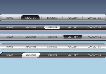 Web Navigation Bars - Free vector #139859