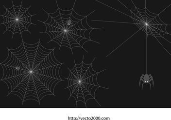 Spider Web Vector Set - vector #139899 gratis