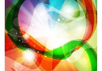 Rainbow Swirls Background - Free vector #140009