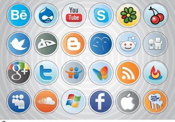 Social Media Buttons - Free vector #140019