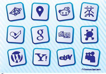 Social Web Logo - Free vector #140139