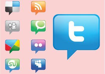 Social Media Icons Vectors - Free vector #140209