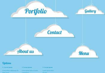 Free Vector Clouds Webdesign - Kostenloses vector #140259