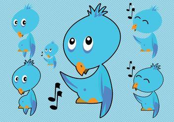 Twitter Bird Vectors - Free vector #140369