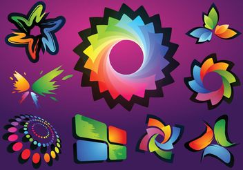 Colorful Logo Vectors - Free vector #140389