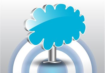 Glossy Cloud Label - vector gratuit #140529