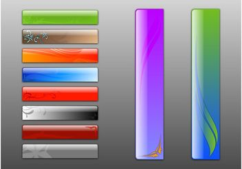 Shiny Banners - Free vector #140539