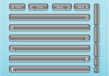 Shiny Buttons Vector - Kostenloses vector #140649