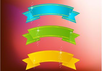 Sparkling Banners - Free vector #140659