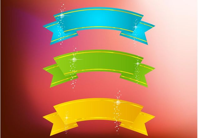 Sparkling Banners - vector #140659 gratis