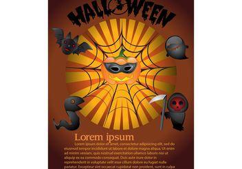 Halloween Poster Graphics - Free vector #140669