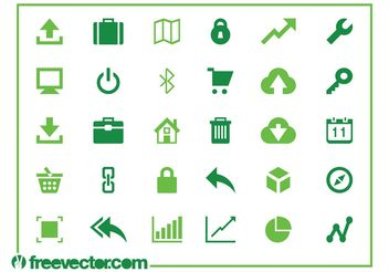 Web And Technology Icons - vector #140709 gratis