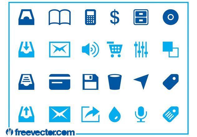 Web And Tech Icons - Kostenloses vector #140719