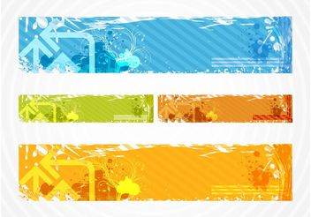 Colorful Grunge Banners - Free vector #140739