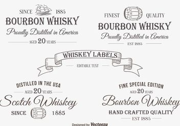 Whiskey Label / Insignias - vector #140829 gratis