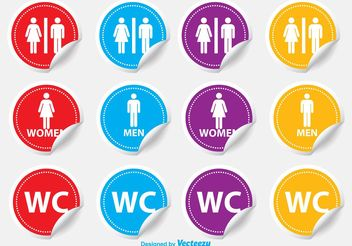 Restroom / WC Stickers - Free vector #140839