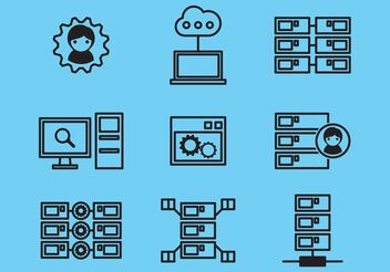 Database Icons - vector #140879 gratis