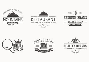 Free Retro Logotypes Vector Set - Kostenloses vector #140909