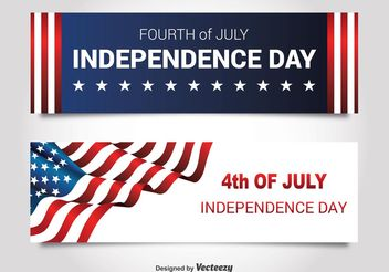 Independence Day Banners - Kostenloses vector #140939