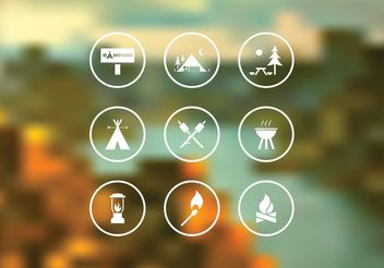 Free Camping Vector Icon Set - бесплатный vector #141149