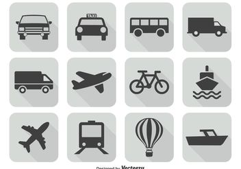 Transportation Icon Set - Kostenloses vector #141159