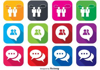 Live Chat Icons - vector gratuit #141229