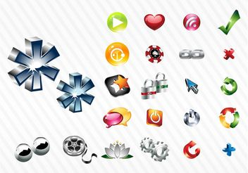 Shiny Icon Set - vector gratuit #141249
