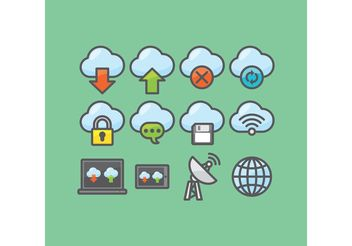 Cloud Computing Vectors - Kostenloses vector #141269
