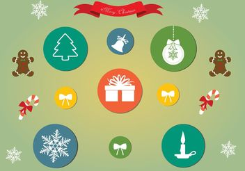 Free Vector Christmas Icon Set - Free vector #141289