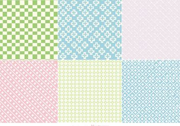 Pastel Geometric Backgrounds - vector gratuit #141309