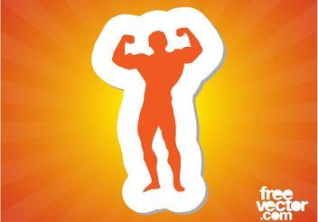 Wrestler Silhouette - Free vector #141389