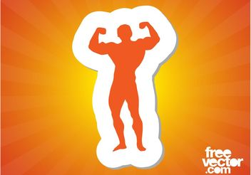 Wrestler Silhouette - бесплатный vector #141389