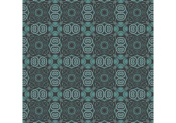 Bluish Floral Wallpaper - бесплатный vector #141409