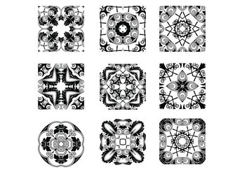 Floral Stamps - Free vector #141479