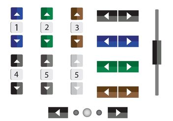 Vector Numbers and Buttons - Free vector #141609